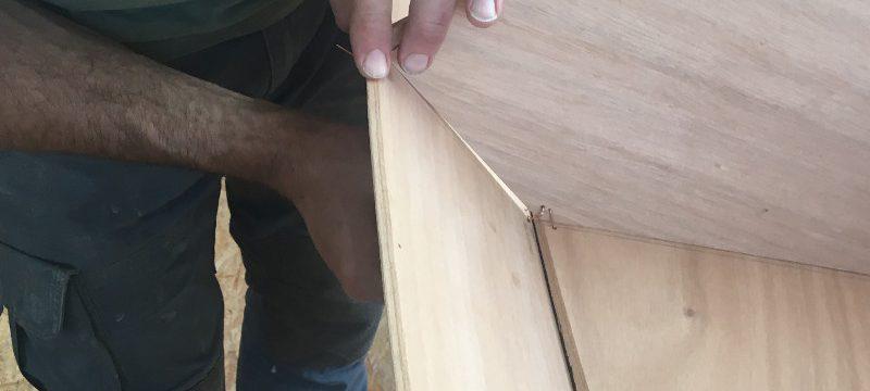Einbau der Trennschotten