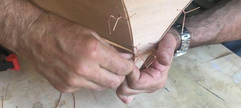 Einbau des Heck bei einem Wood Duck Double