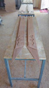 Fertig gefräste Planken für das Nook Double